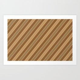 Brown stripes pattern Art Print