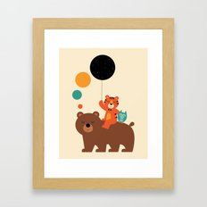 My Little Explorer Framed Art Print