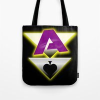 ace attorney Tote Bags featuring Ace by drQuill