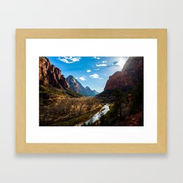 Winter in Zion National Park. Utah. USA Framed Art Print
