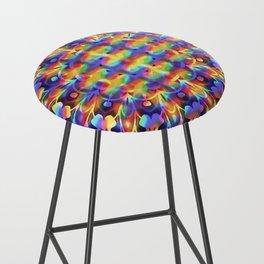 Trippy Hippy Series : Rainbow Fire Bar Stool