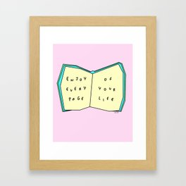 Enjoy Your Life - Book Illustration Framed Art Print