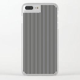 Simple Black & White Licorice Cabana Stripe Clear iPhone Case