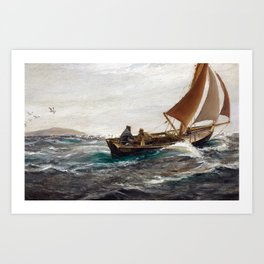 Charles Napier Hemy With Wind and Tide Art Print