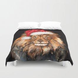 Christmas King Lion Duvet Cover