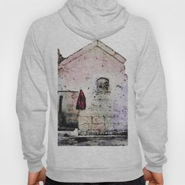 Sassi di Matera with red jacket Hoody