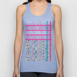 Retro 90s 80s Abstact Memphis Pattern Unisex Tank Top