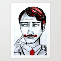 gentleman Art Prints featuring gentleman by sladja