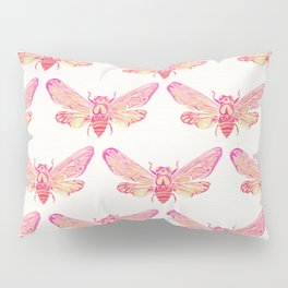 Summer Cicada – Pink Palette Pillow Sham