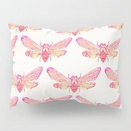 Summer Cicada – Pink Palette Pillow Sham