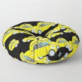 Yellow Taxi Cab Floor Pillow