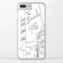 The Beverly Hills Hotel Clear iPhone Case