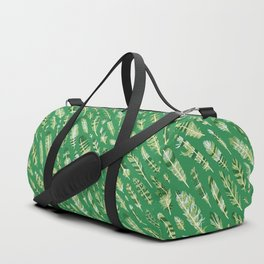 Feathers [green] Duffle Bag