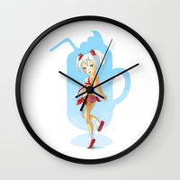 strawberry Wall Clocks featuring Strawberry by Freeminds