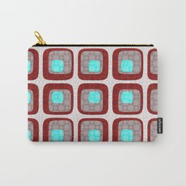60s Winter Wonderland in Red Carry-All Pouch