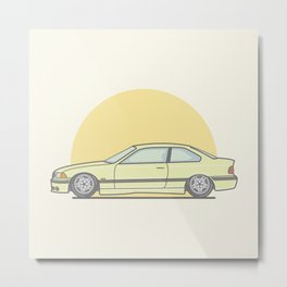 BMW E36 M3 Vector Illustration Metal Print