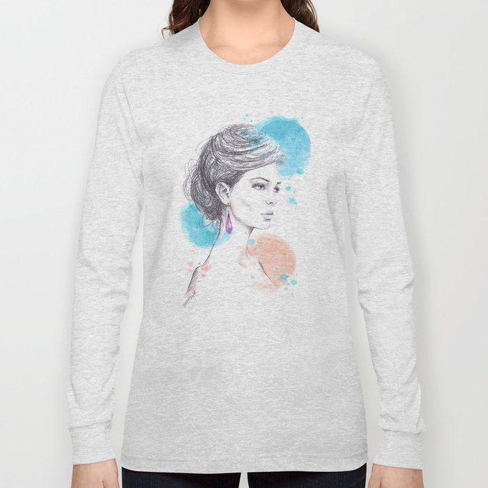 Earring Long Sleeve T-shirt
