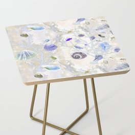 Shells - Yellow Purple Green - Casart Sea Life Treasures Collection Side Table