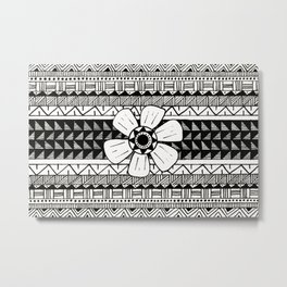 Geometric Flower Metal Print