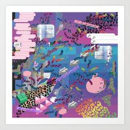 nu reef Art Print