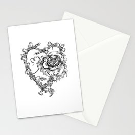 The End-Dead Love-Rose-Bones Stationery Cards