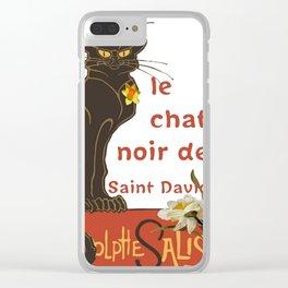 Le Chat Noir De Saint David De Rodolphe Salis Clear iPhone Case