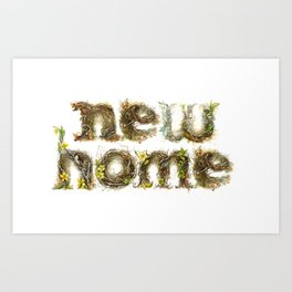"""Nested Typography - """"New Home"""" Art Print"""