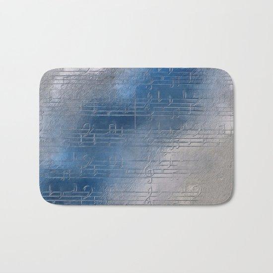 Silver music Bath Mat