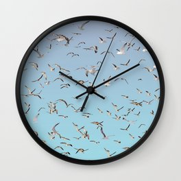 Brooklyn working gulls Wall Clock