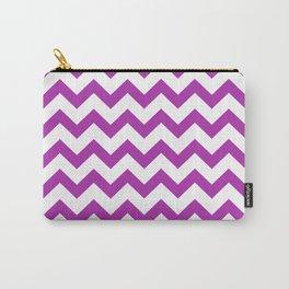 Chevron (Purple & White Pattern) Carry-All Pouch