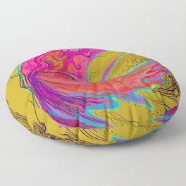 Metamorphosis with me-chartreuse Floor Pillow