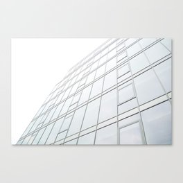 wide angle view of contemporary block apartments abstract architecture Canvas Print