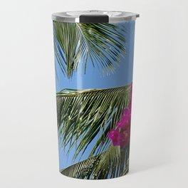 African Palm Flowers Travel Mug
