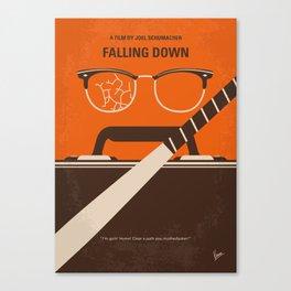 No768 My Falling Down minimal movie poster Canvas Print
