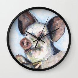 Pig Olli  Wall Clock