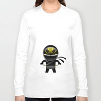 ninja Long Sleeve T-shirts featuring Ninja by Stephen Yan