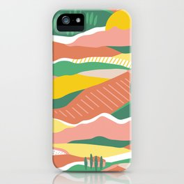 Tuscany summer colorblock iPhone Case
