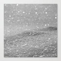 Glitter Silver Canvas Print