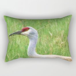 Bird Series: Sandhill Crane Rectangular Pillow
