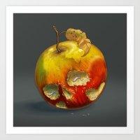 Fruitflies Art Print