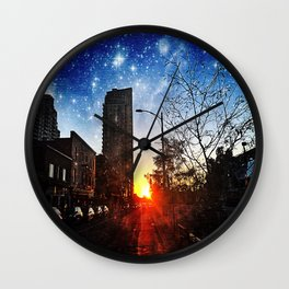 Mystical Sunset Wall Clock