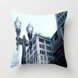 Silver EL - Chicago Throw Pillow