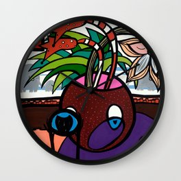 POTHEAD and the COVETED GLASS EYE Wall Clock