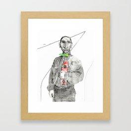 K and his alibi Framed Art Print