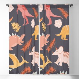 Dinos and Herbs Blackout Curtain