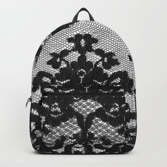 Black Vintage Lace Backpack