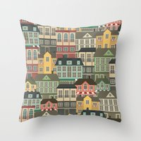urban Throw Pillows featuring Urban by Julia Badeeva