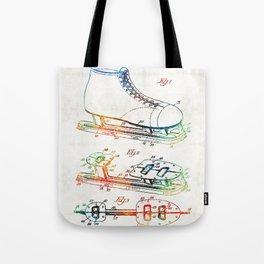 Ice Skate Patent - Sharon Cummings Tote Bag