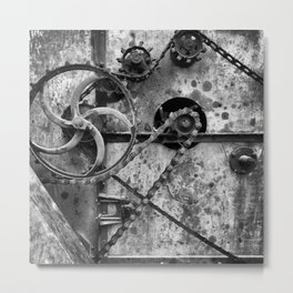 Old Farm Mechanics 1 Metal Print