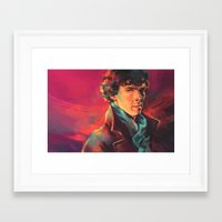 study Framed Art Prints featuring A Study in Pink by Alice X. Zhang